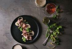 Veau avec le tonnato de vitello de sauce à thon Images libres de droits
