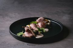 Veau avec le tonnato de vitello de sauce à thon Photos stock