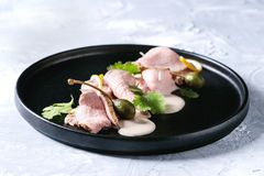 Veau avec le tonnato de vitello de sauce à thon Photo libre de droits