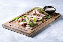 Veau avec le tonnato de vitello de sauce à thon Photo stock