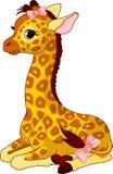 Veau de giraffe avec la proue illustration de vecteur