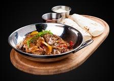 Veau en sauce aigre-doux Cuisine chinoise images libres de droits