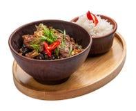 Veau en sauce aigre-doux Cuisine chinoise photographie stock libre de droits