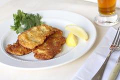 Veau Weinerschnitzel Image libre de droits