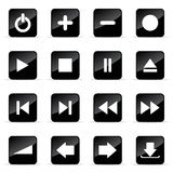 Veb icons set. Web and media vector icon (set 11 Stock Photography
