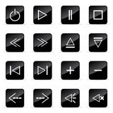 Veb icons set. Web and media vector icon (Set 3 Stock Images
