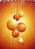 vec рождества карточки шарика иллюстрация вектора