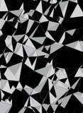 Vec de pedra vertical do fundo abstrato preto e branco dos triângulos ilustração royalty free
