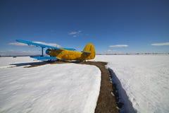Vecchi aeroplani parcheggiati Fotografie Stock Libere da Diritti