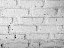 Vecchi ambiti di provenienza bianchi del muro di mattoni fotografie stock libere da diritti
