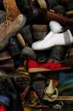Vecchi ambiti di provenienza 6 delle scarpe Immagine Stock
