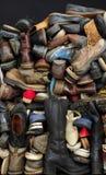 Vecchi ambiti di provenienza 2 delle scarpe Fotografie Stock