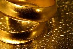 Vecchi anelli di cerimonia nuziale Immagini Stock