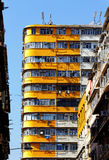 Vecchi appartamenti Fotografie Stock