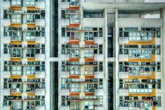 Vecchi appartamenti ammucchiati in Hong Kong Fotografia Stock