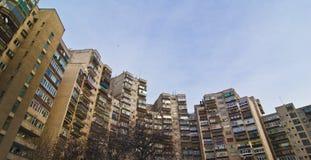 Vecchi appartamenti della città Fotografie Stock Libere da Diritti
