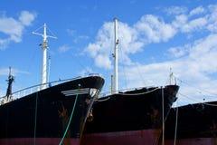 Vecchi archi arrugginiti delle navi Immagine Stock Libera da Diritti