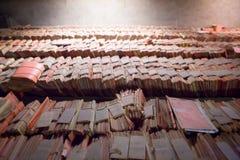 Vecchi archivi alla corte a Bruxelles Immagini Stock
