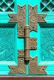 Vecchi arrugginiti fissano il portone di legno Fotografia Stock Libera da Diritti