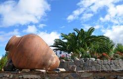 Vecchi barattoli 3 dell'argilla Fotografia Stock