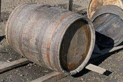 Vecchi barilotti della quercia Fotografia Stock