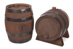 Vecchi barilotti di birra Fotografie Stock Libere da Diritti