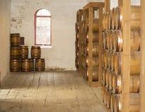 Vecchi barilotti di legno Fotografia Stock