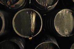 Vecchi barilotti di vino Fotografia Stock Libera da Diritti