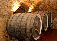 Vecchi barilotti di vino Immagine Stock Libera da Diritti