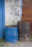Vecchi barilotti (particolare esterno) fotografie stock libere da diritti
