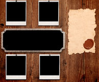Vecchi blocchi per grafici della foto e del documento Fotografia Stock