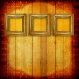 Vecchi blocchi per grafici di legno del Victorian sulla parete Immagini Stock