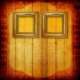 Vecchi blocchi per grafici di legno del Victorian sulla parete Fotografia Stock