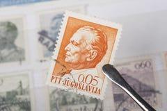 Vecchi bolli di ex Iugoslavia Fotografia Stock Libera da Diritti