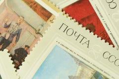 Vecchi bolli variopinti russi per la raccolta Fotografie Stock