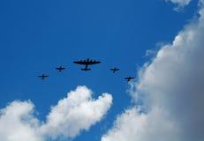 Vecchi bombardiere e aerei di combattimento Fotografie Stock Libere da Diritti