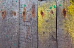 Vecchi bordi e macchie della pittura Fotografia Stock Libera da Diritti