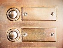 Vecchi bottoni di segnalatore acustico Immagini Stock