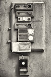 Vecchi bottoni di segnalatore acustico Fotografia Stock