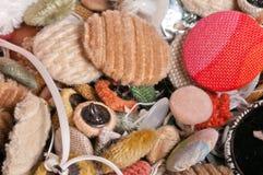 Vecchi bottoni lussuosi della tappezzeria Fotografia Stock