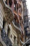 Vecchi brownstones New York Fotografia Stock Libera da Diritti