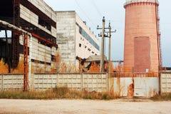 Vecchi calore e centrale elettrica Fotografia Stock