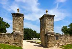 Vecchi cancelli della città in st Augustin Fotografie Stock