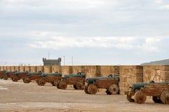 Vecchi cannoni in Essaouria, Marocco Fotografie Stock Libere da Diritti