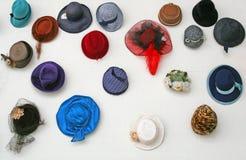 Vecchi cappelli Fotografia Stock Libera da Diritti