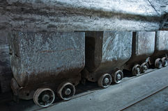 Vecchi carrelli del carbone Immagini Stock Libere da Diritti