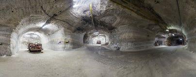 Vecchi carrelli di miniera nell'impianto minerario Sondershausen Fotografia Stock