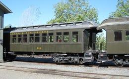 Vecchi carrelli ferroviari Sacramento California Fotografie Stock