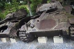Vecchi carri armati francesi Fotografia Stock