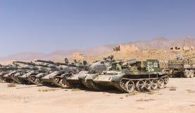 Vecchi carri armati sovietici in politico e Charki, Afghanistan Immagine Stock